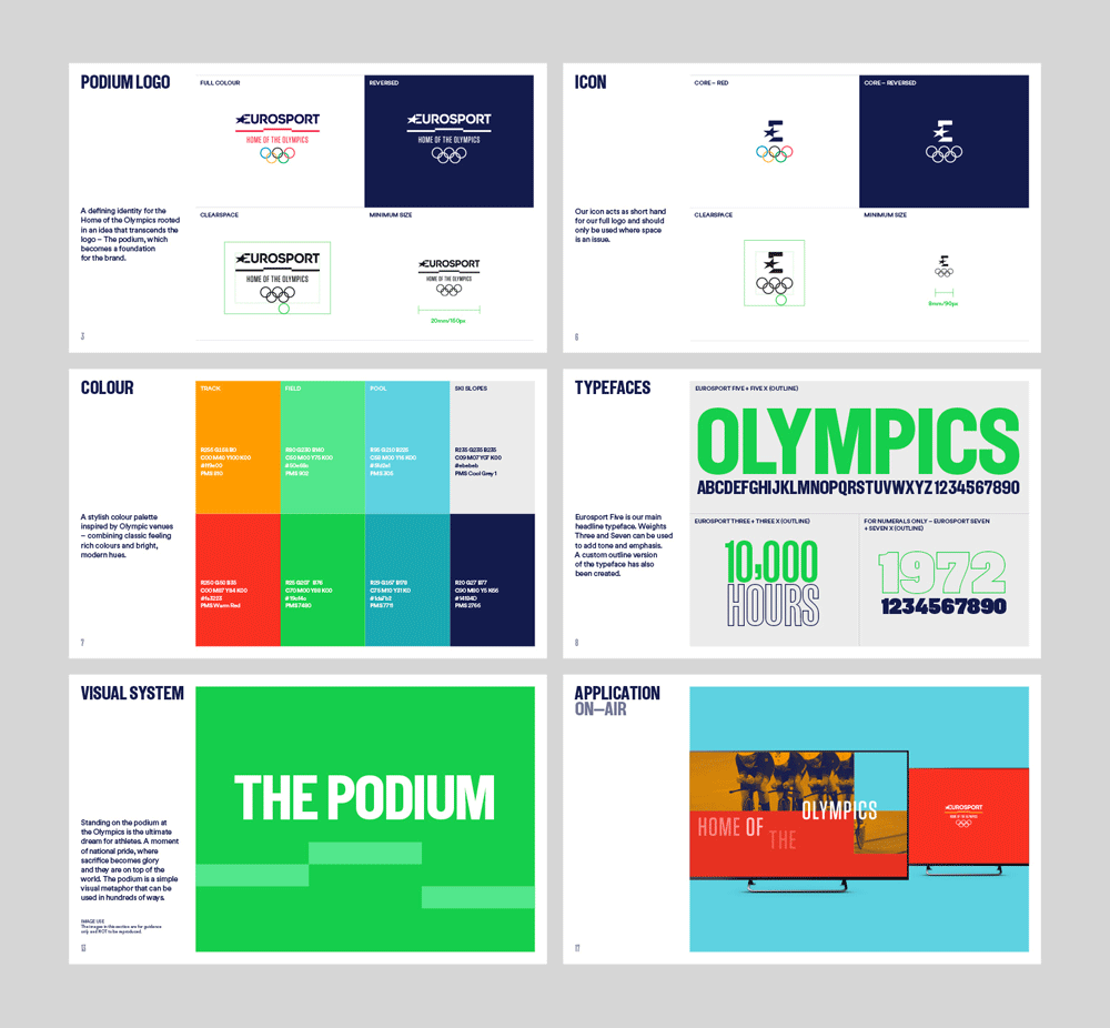New Logo, Identity, and On-air Look for Eurosport Olympic Coverage by DixonBaxi