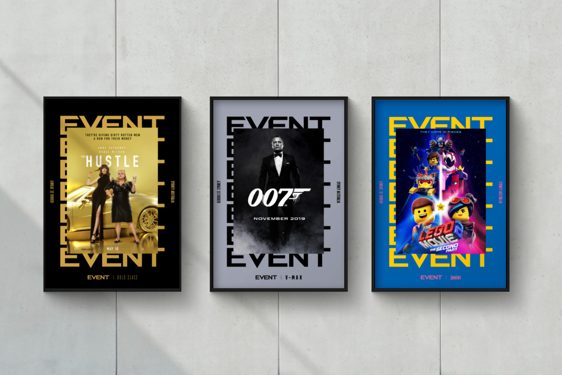 New Logo and Identity for Event Cinemas by Landor