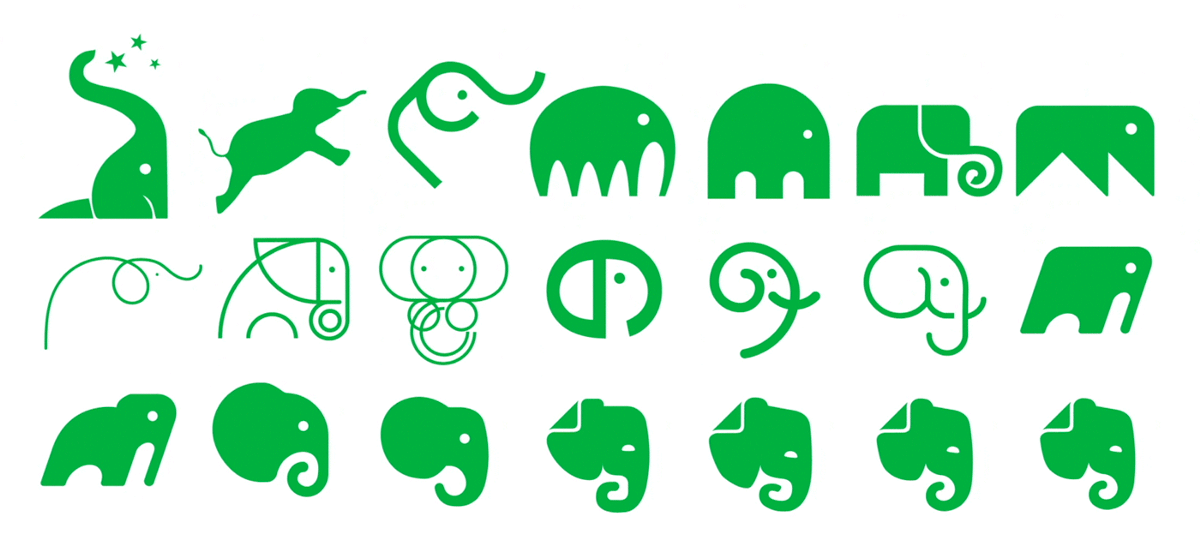 New Logo and Identity for Evernote by DesignStudio and In-house