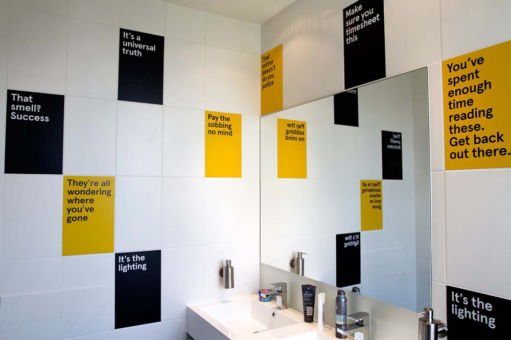 Brand new new identity for and by evidently for Corporate bathroom ideas