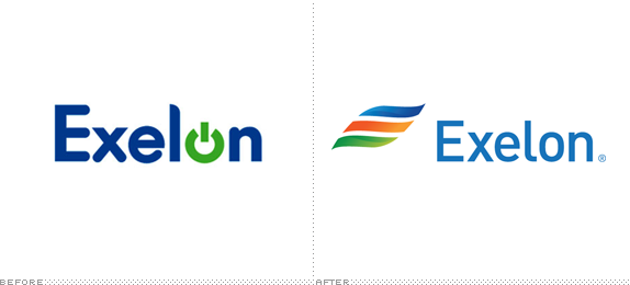 Exelon Logo, Before and After