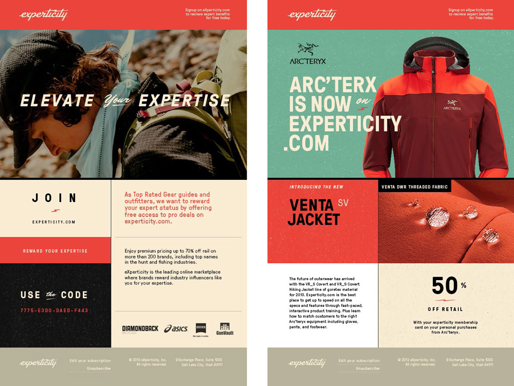 Brand New: New Logo and Identity for Experticity by Attik