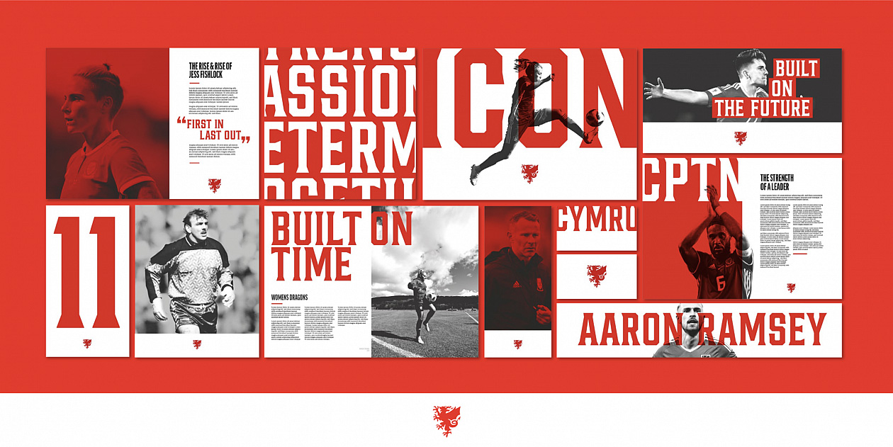 New Logo and Identity for Football in Wales by Bulletproof