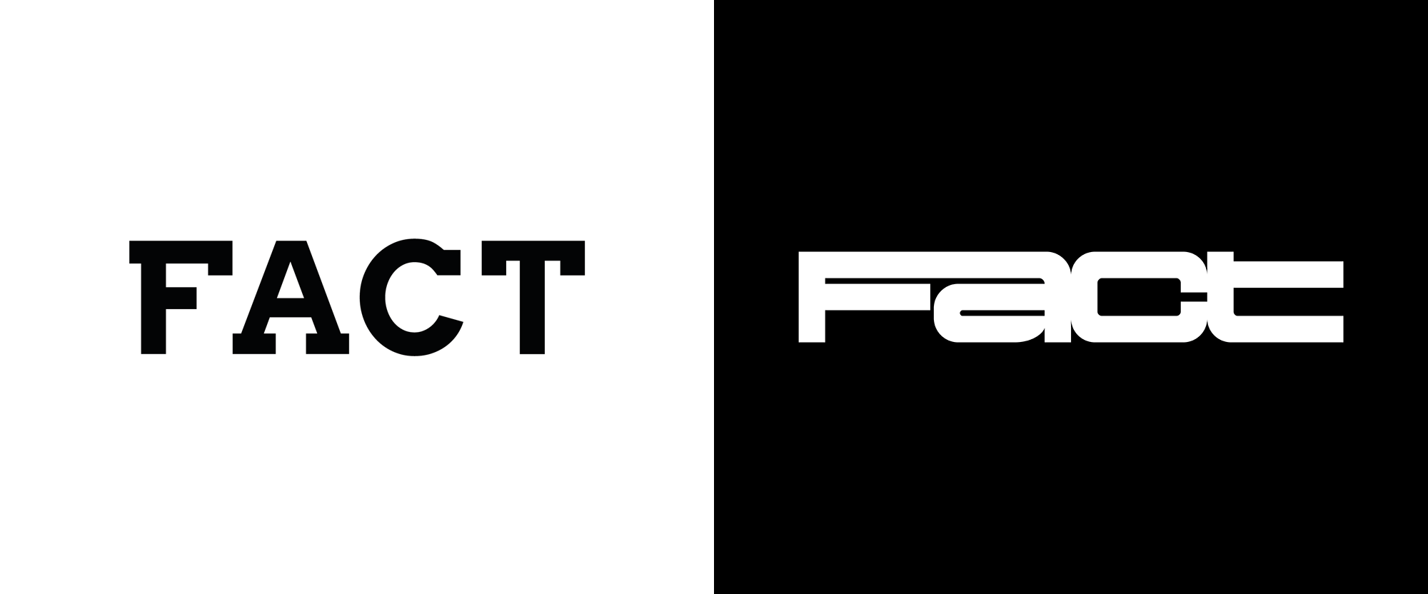 New Logo for Fact Magazine by Zak Group