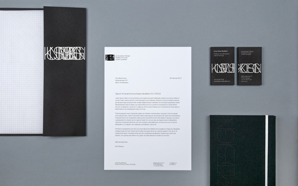 New Logo and Identity for Fakultet for kunst, musikk og design, UiB, by Uniform