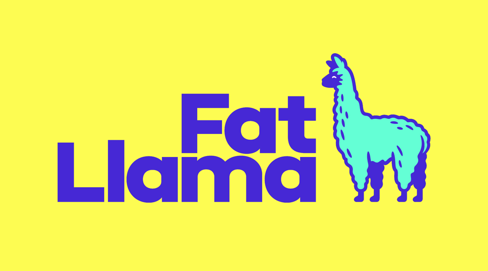 New Logo and Identity for Fat Llama by Koto