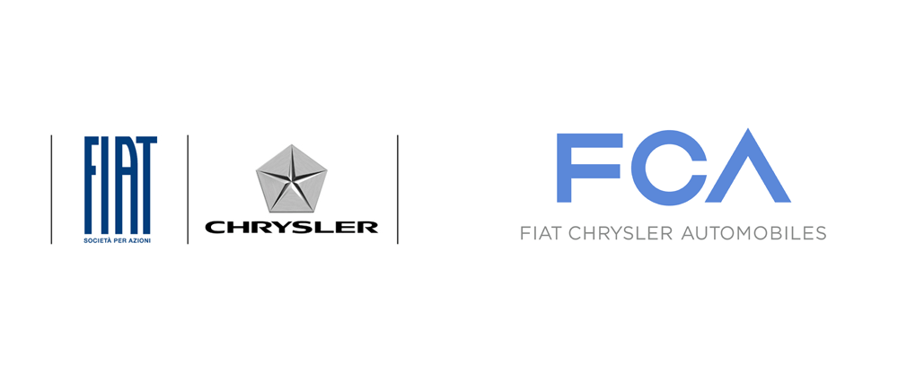 Brand New New Logo For Fiat Chrysler Automobiles By