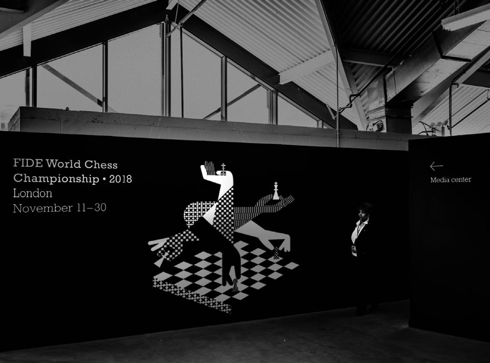 New Logo and Identity for 2018 World Chess Championship by Shuka Design