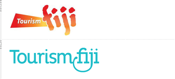 Fiji Tourism Logo, Before and After