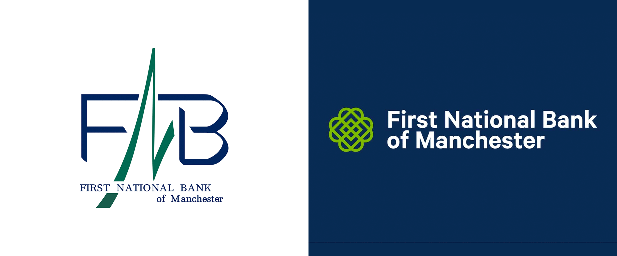 New Logo and Identity for First National Bank of Manchester by Austin McKinney