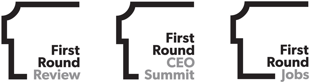 New Logo and Identity for First Round by Pentagram