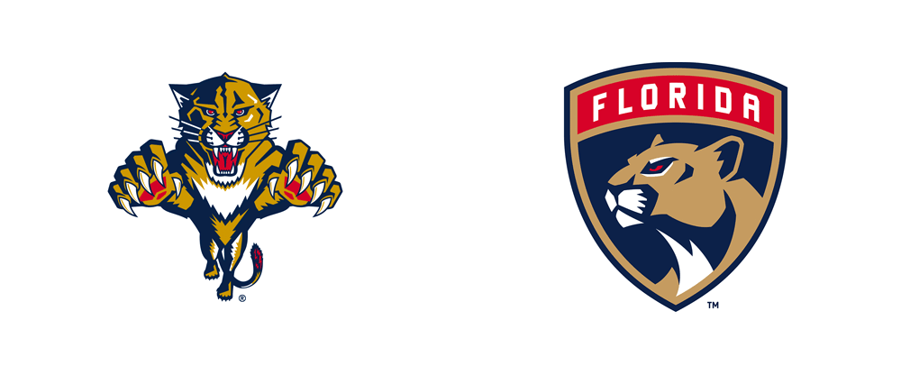 New Logos and Uniforms for Florida Panthers by Reebok