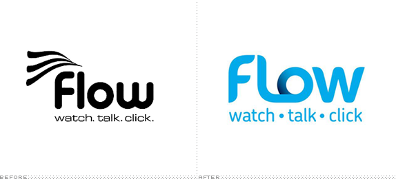 Flow Logo, Before and After