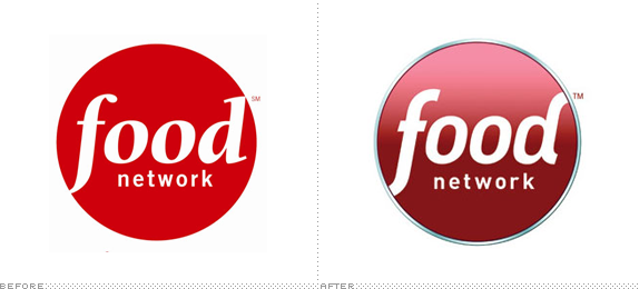 Food Network Logo, Before and After