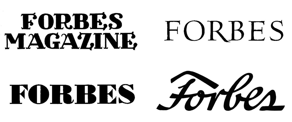 Forbes Logo Evolution