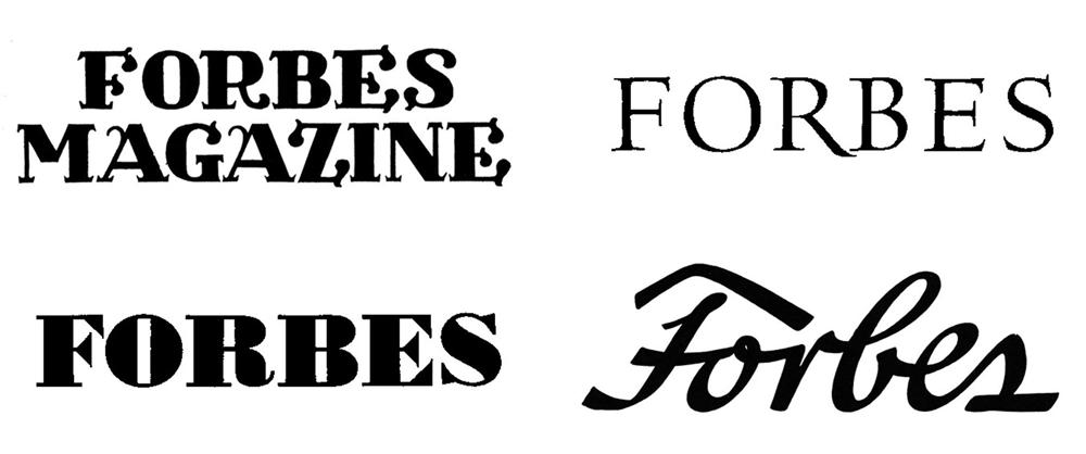 Forbes Logo Evolution