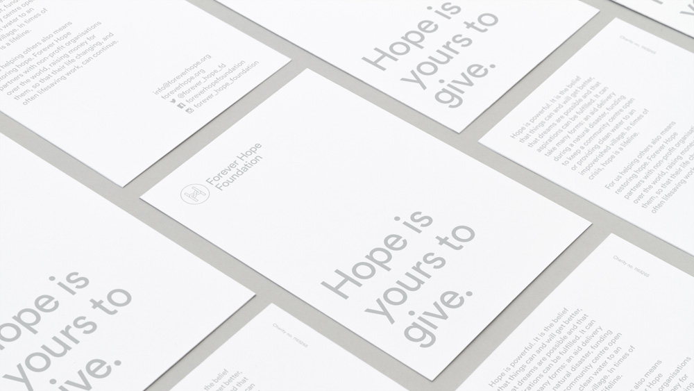 New Logo and Identity for Forever Hope Foundation by Branch
