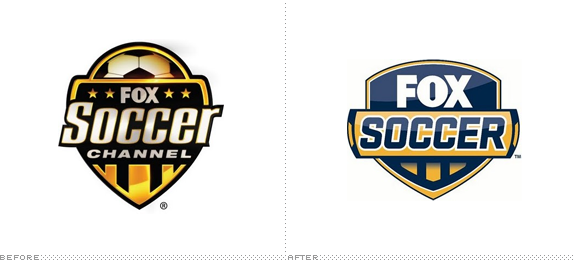 Fox Soccer Logo, Before and After