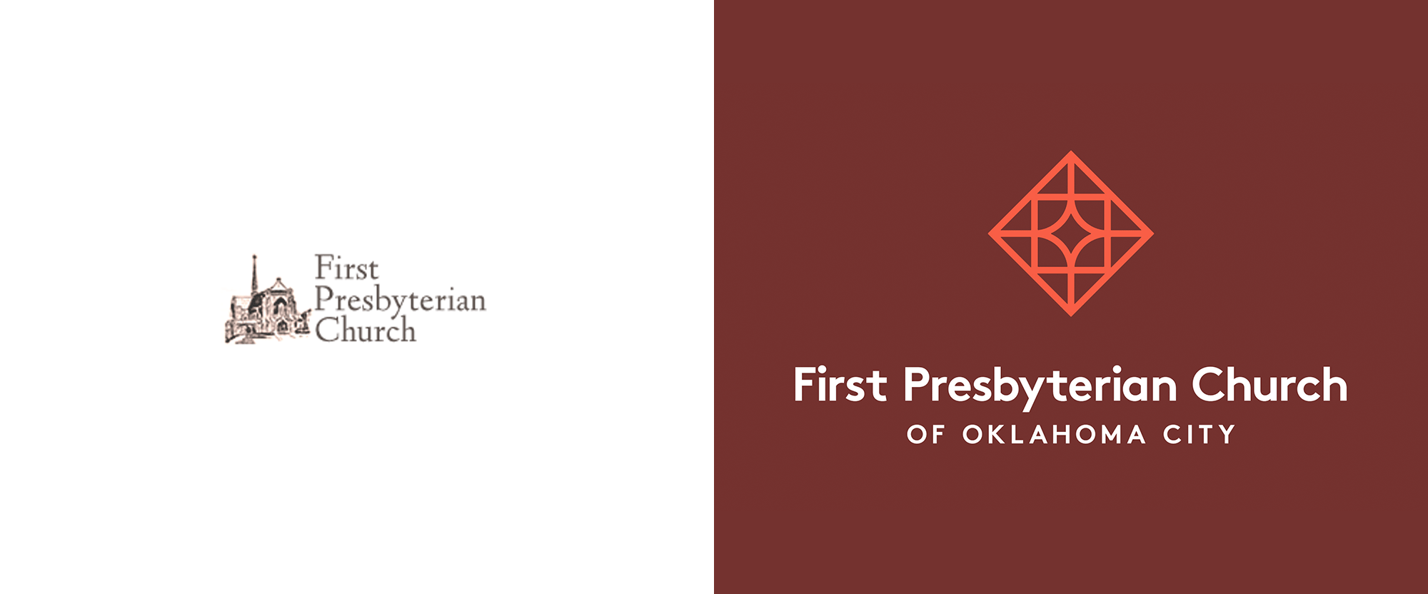 New Logo and Identity for First Presbyterian Church of Oklahoma City by J.D. Reeves