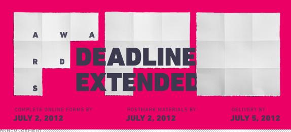 FPO Awards, Deadline Extended