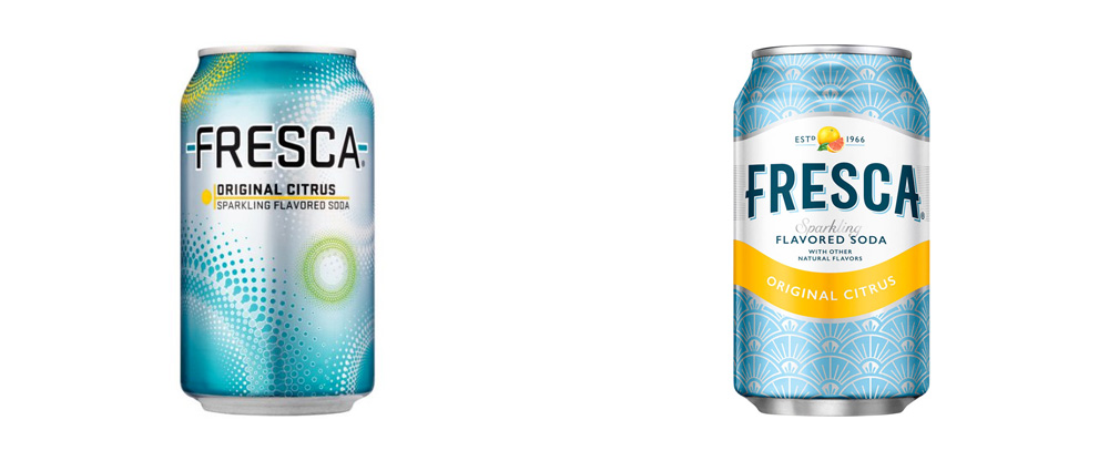 New Logo and Packaging for Fresca