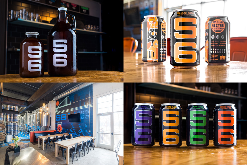 56 Brewing (New Cans) by Erickson Design Co.