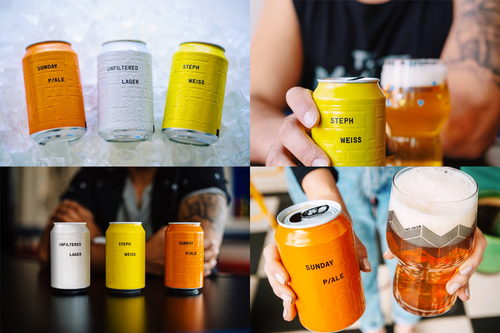 AND UNION Beer Cans