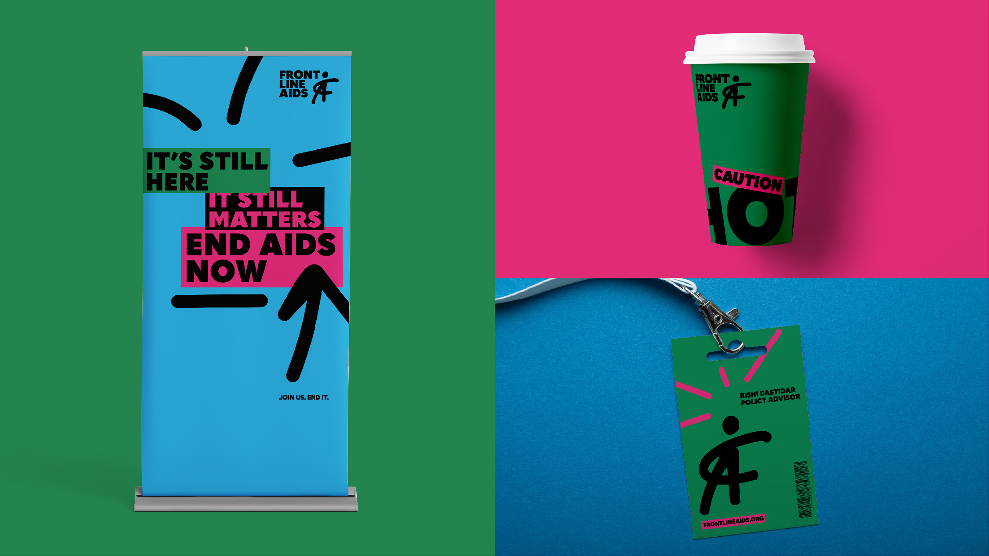 New Logo and Identity for Frontline Aids by Brandpie