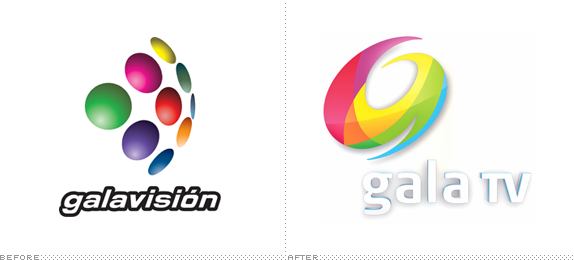 Gala TV Logo, Before and After