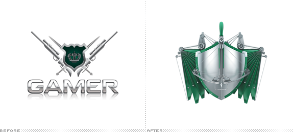 Gamer.ru Logo, Before and After
