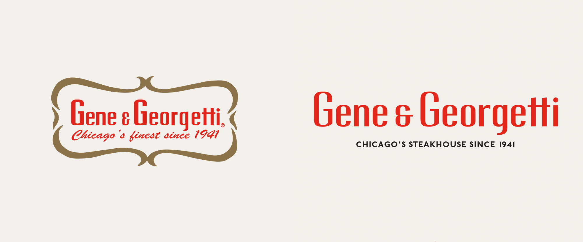 New Logo and Identity for Gene & Georgetti by Paperwhite Studio