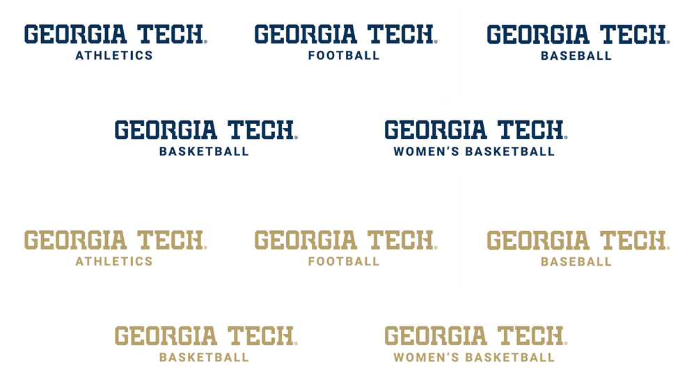 New Wordmark for Georgia Tech Athletics by IMG College Licensing