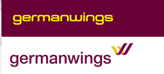 Germanwings Logo, Before and After
