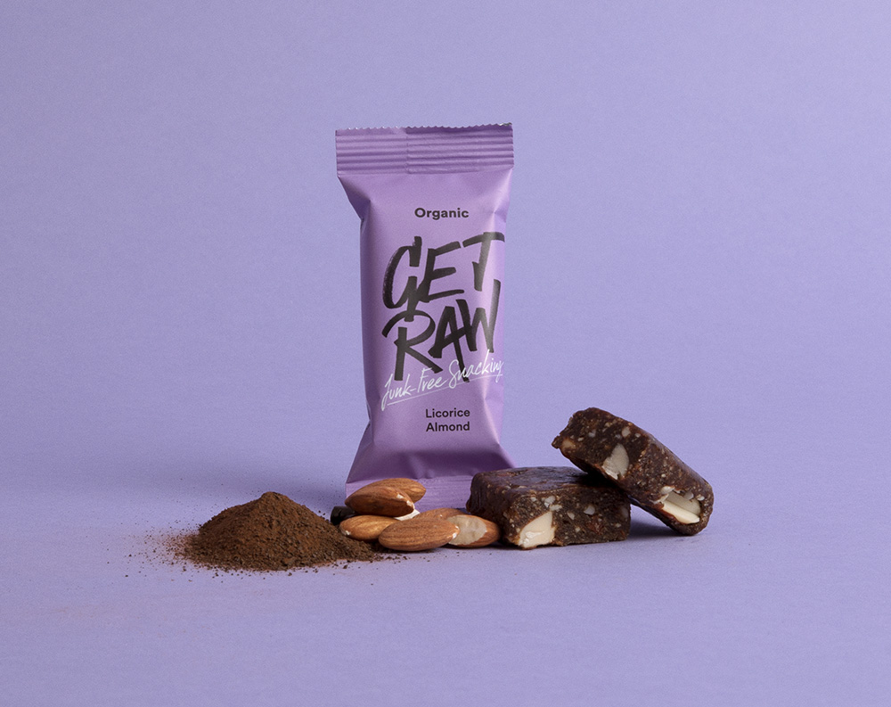 New Logo and Packaging for Get Raw by Snask