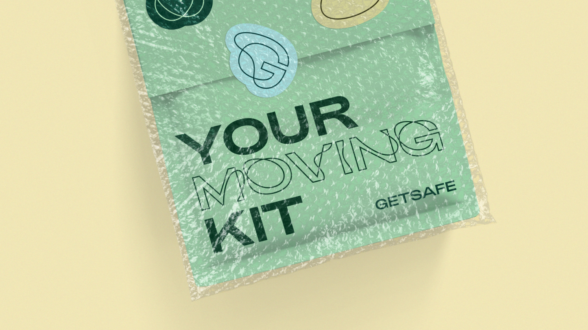 New Logo and Identity for Getsafe done In-house with DesignStudio