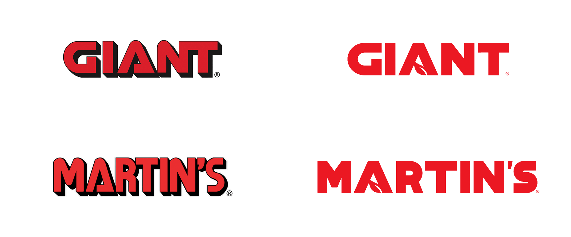 New Logos for Giant and Martin's