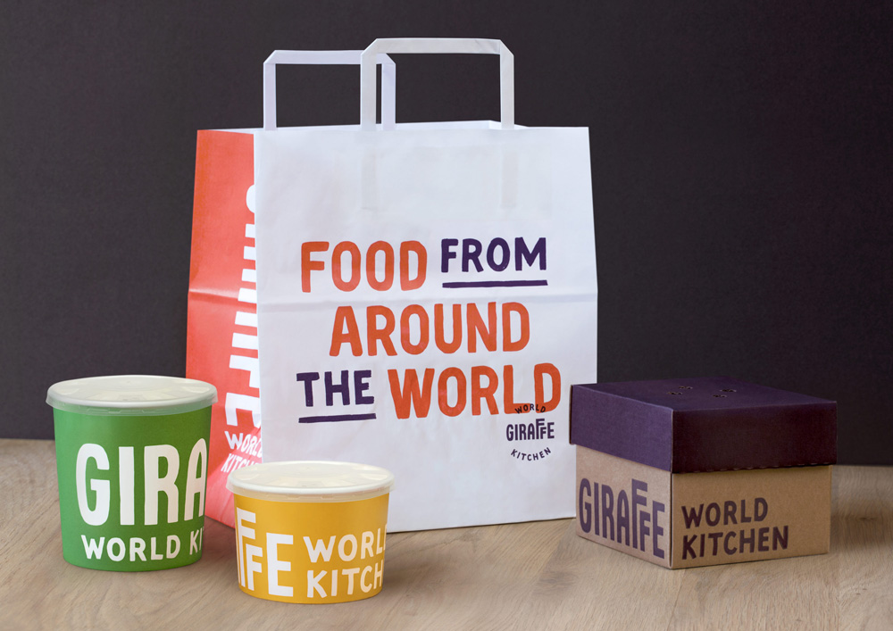 New Name, Logo, and Identity for Giraffe World Kitchen by Ragged Edge