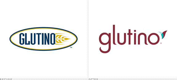 Glutino Logo, Before and After