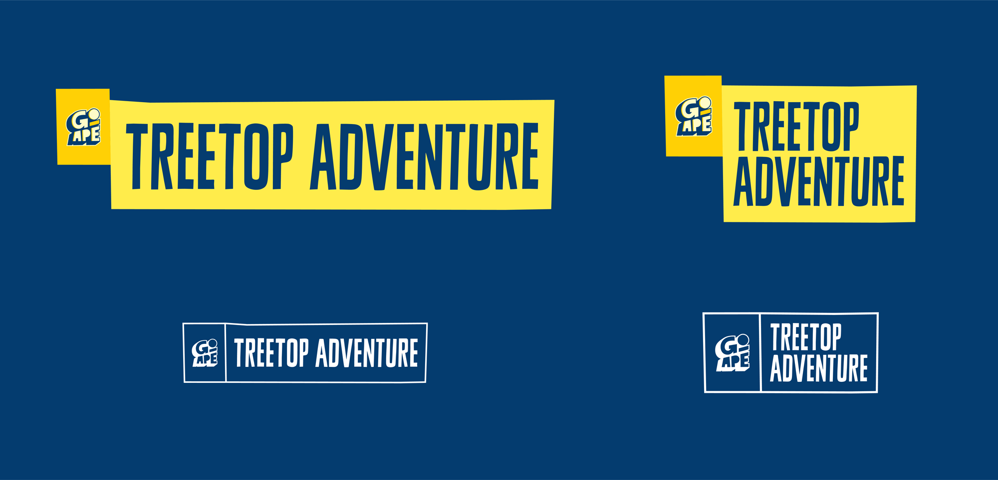 New Logo and Identity for Go Ape by Littlehawk
