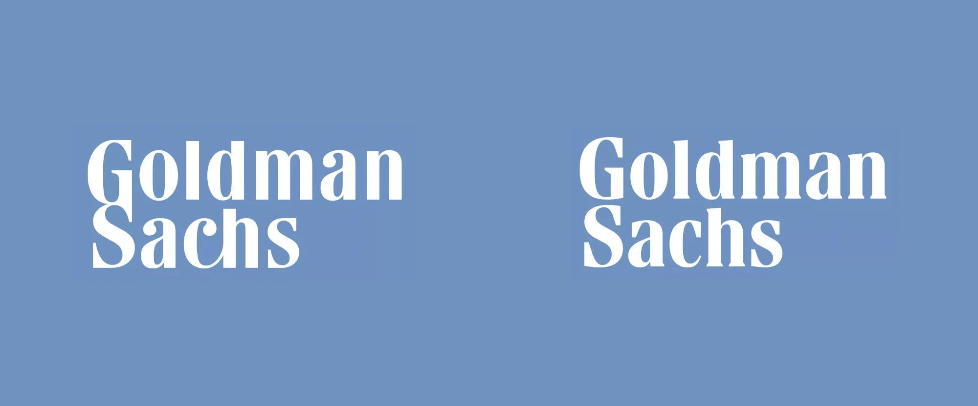 New Logo for Goldman Sachs