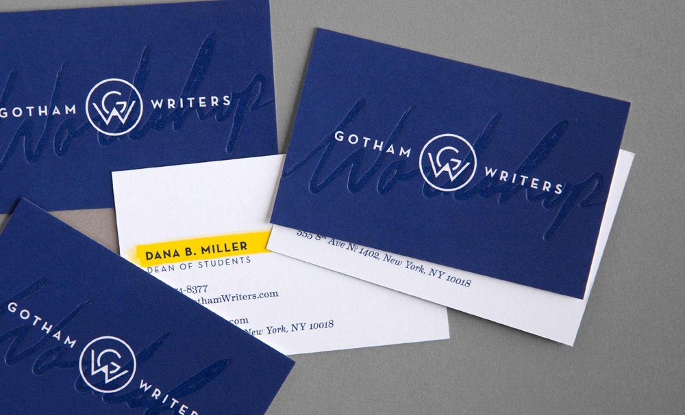 Brand new new logo and identity for gotham writers by hyperakt new logo and identity for gotham writers by hyperakt business cards colourmoves