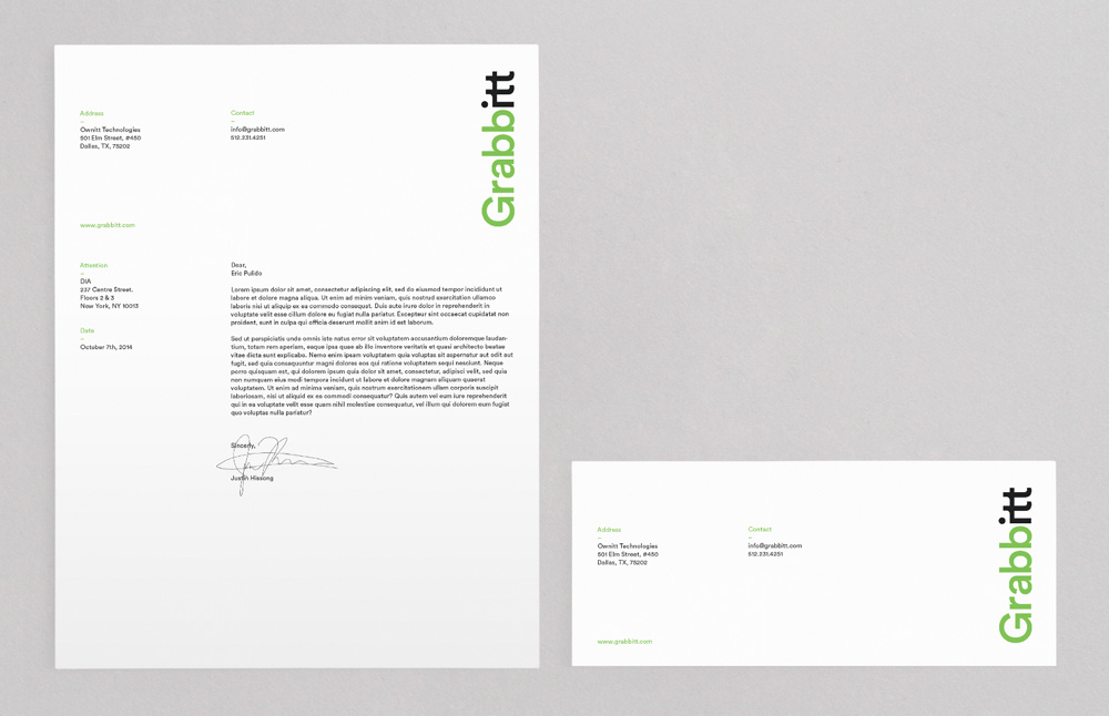 New Logo and Identity for Grabbitt by DIA