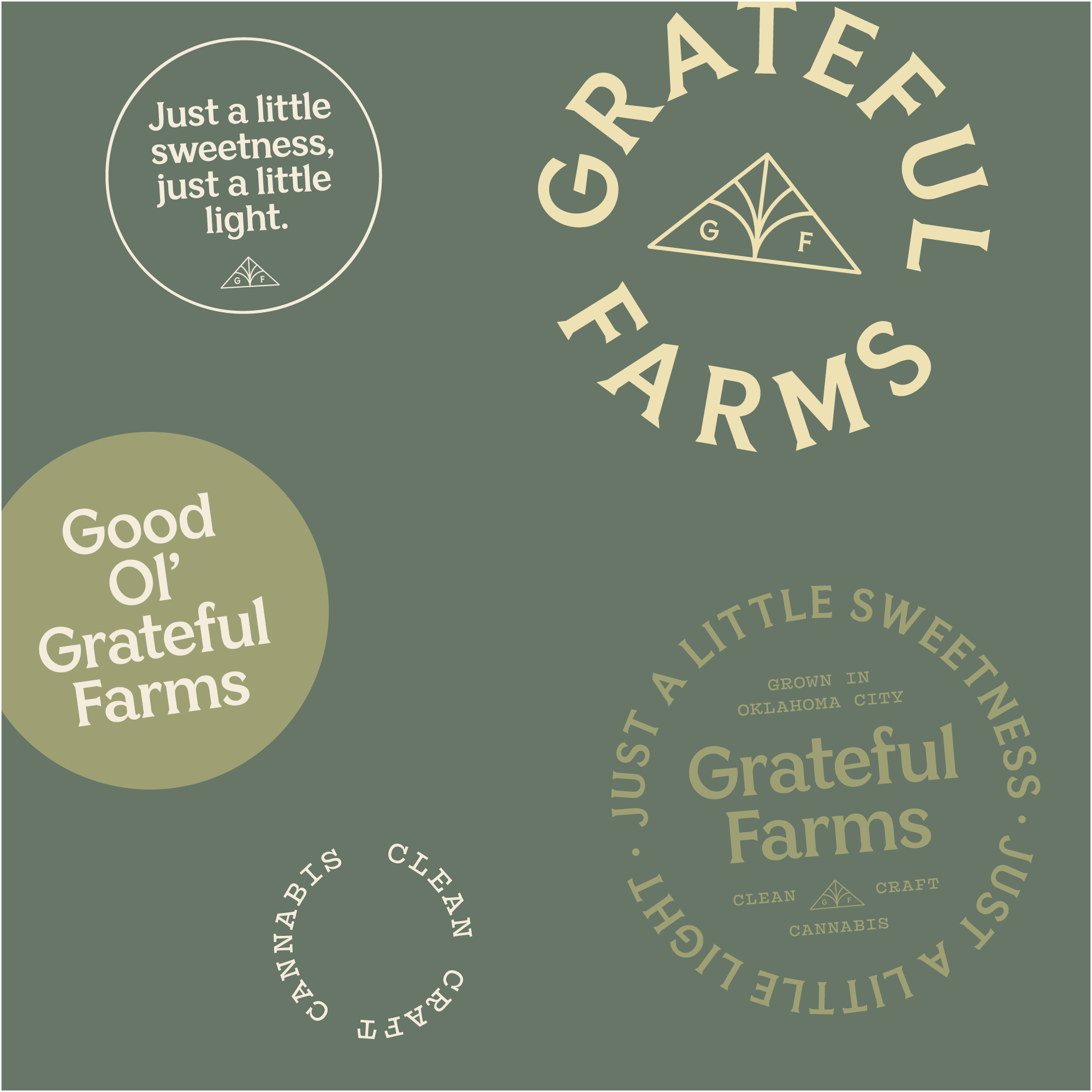 New Logo and Identity for Grateful Farms by Ghost
