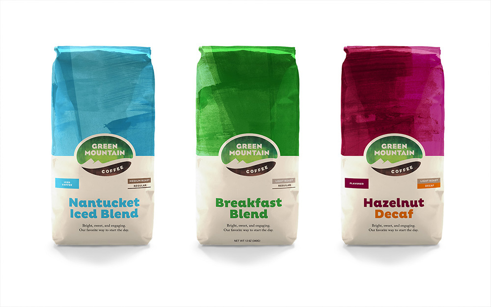 New Logo and Packaging for Green Mountain Coffee by Prophet