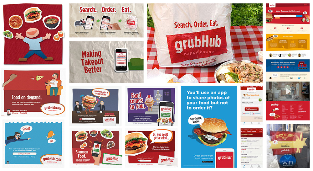 New Logo and Identity for Grubhub by Wolff Olins