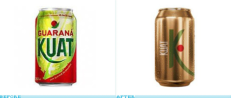 Guarana Kuat Package, Before and After