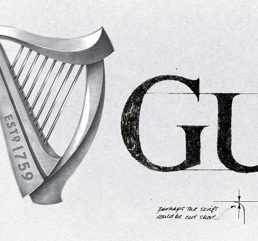 New Logo for Guinness by Design Bridge