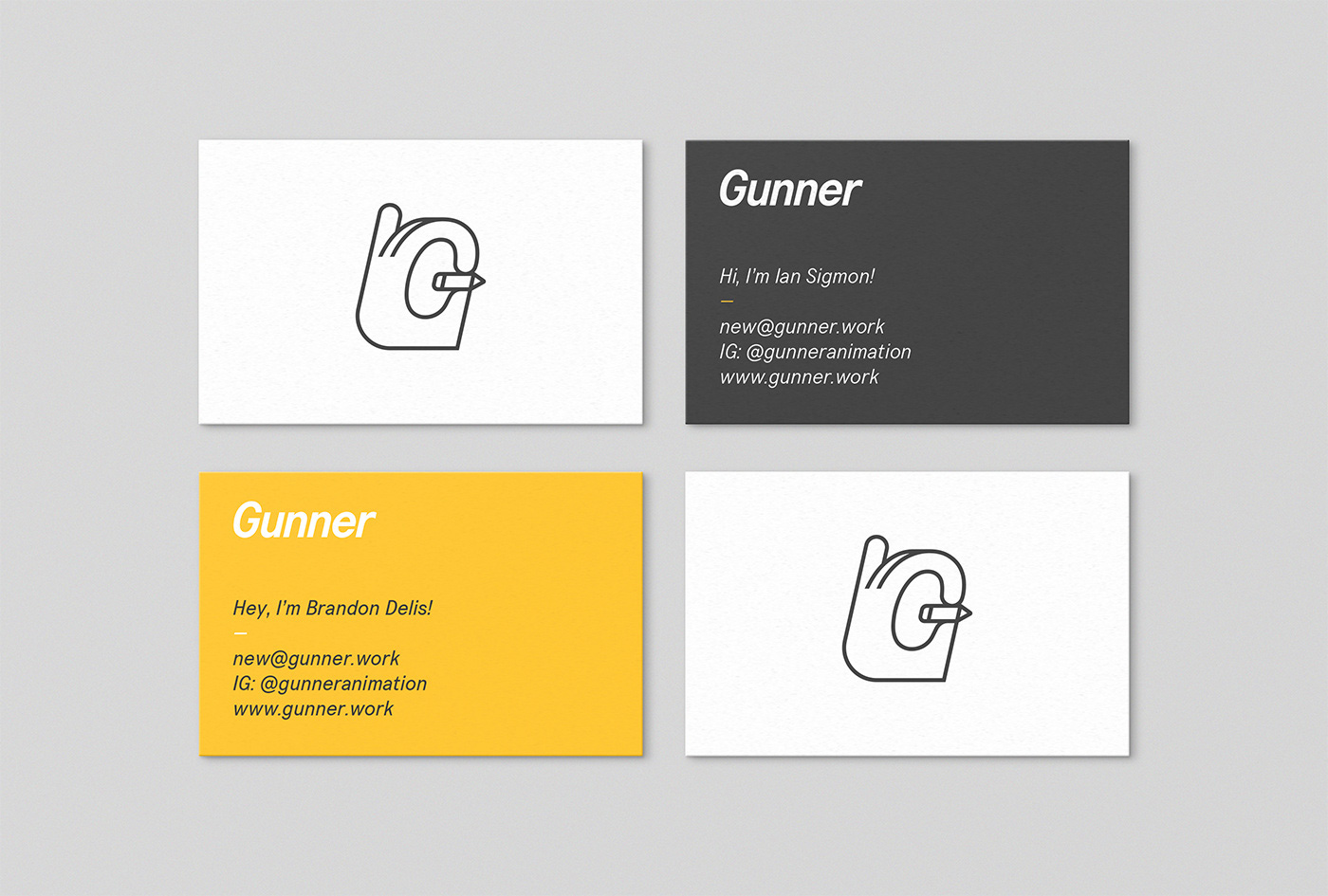 New Logo and Identity for Gunner by Stephen Kelleher