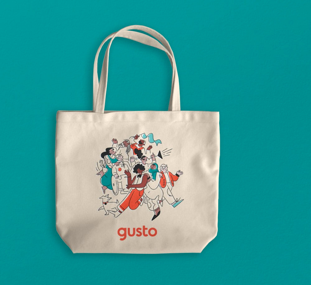 New Logo and Identity for Gusto done In-house