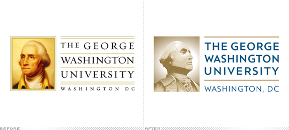 George Washington University Logo, Before and After